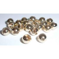 Tungstenperlen geschlitzt gold 5,5mm