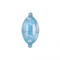 Jenzi Wasserkugel Buldo transparent oval 2 Metallösen