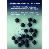 Jenzi Gummi Perlen schwarz