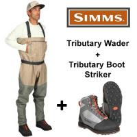 Simms Tributary Watset - Hose + Schuh Striker