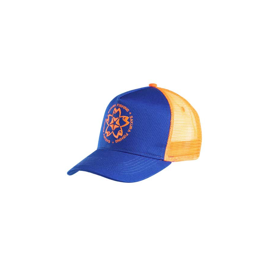 Sakura Logo Trucker Cap navy/orange