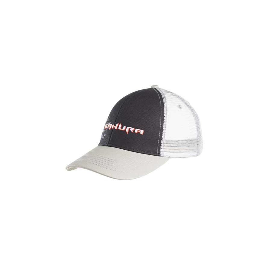 Sakura Logo Trucker Cap grey / black