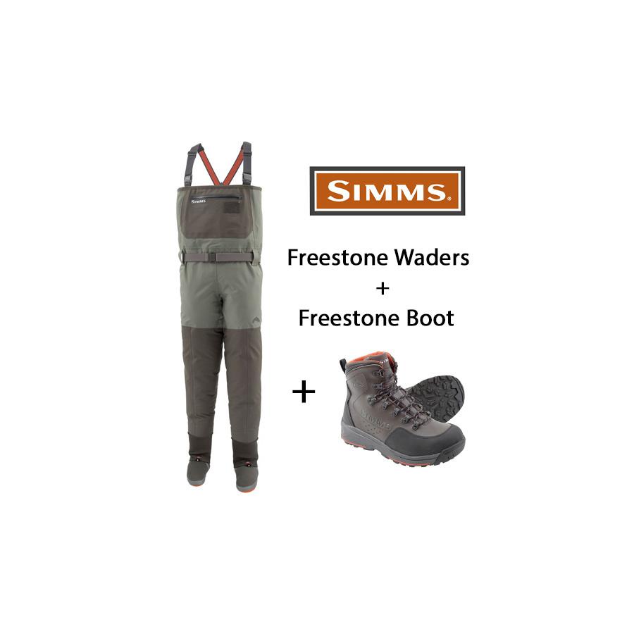 Simms Freestone Watset - Hose + Schuh Vibram