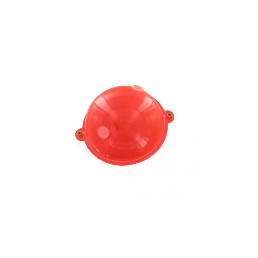 Jenzi Wasserkugel Buldo rot/clear 2 Metallösen