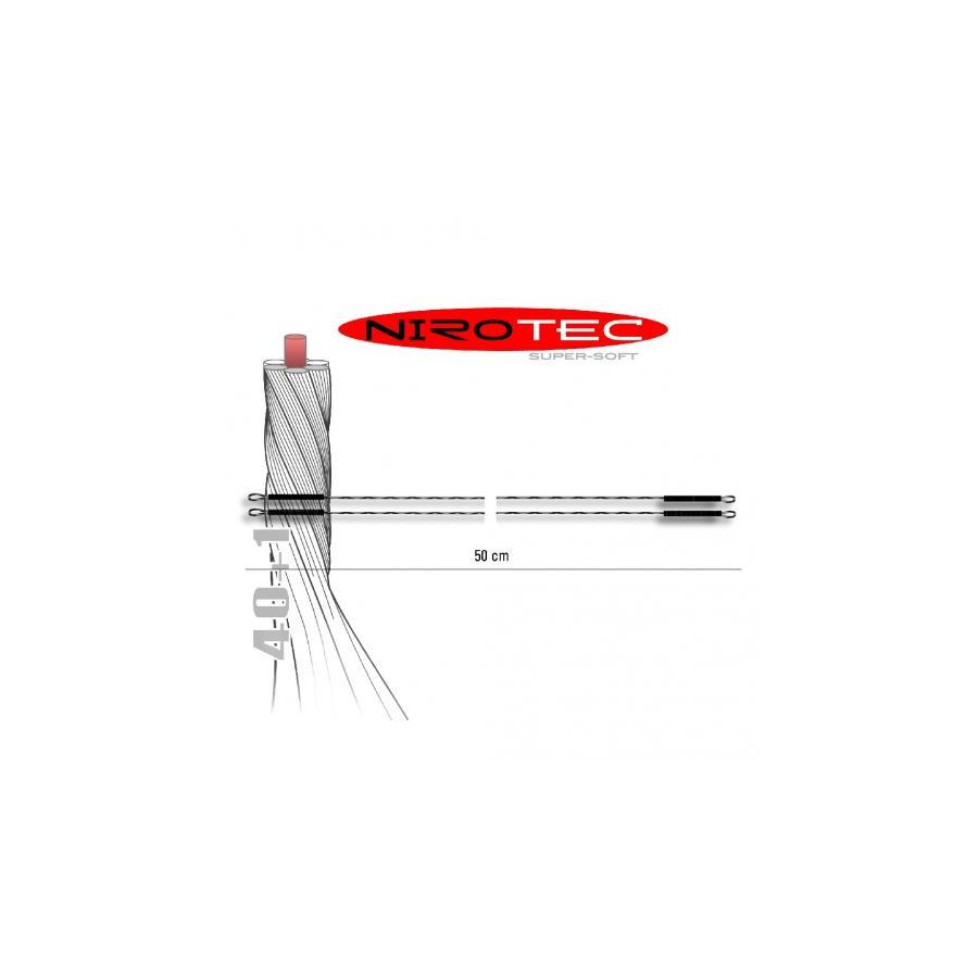 Jenzi NiroTec Super Soft Stahlvorfach 2 Schlaufen